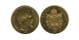 50 Francs Napoléon III Tête Nue