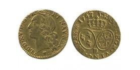 Louis d'or au bandeau louis xv