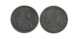 Louis XIV - Ecu à la mèche longue - 1648 K Bordeaux