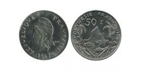 Polynésie Française - 50 francs 1967