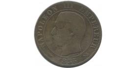 5 centimes Napoléon III 1855 A (chien)