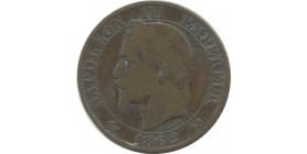 5 centimes Napoléon III 1855 B (chien)