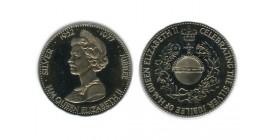 Medaille Module 25 New Pence Elisabeth II Grande Bretagne Argent - Grande Bretagne