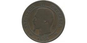 10 centimes Napoélon III 1856 B Rouen