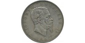 Italie 5 lires 1861 Turin