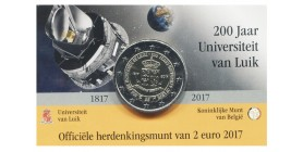 2 Euros Commémoratives Belge 2017 LFl