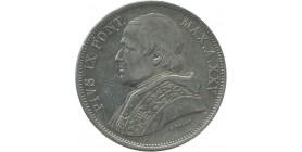 Vatican - 5 lires Pie IX 1870 an XXV