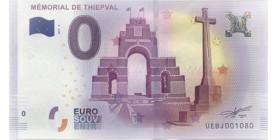 0 Euro Mémorial de Thiepval
