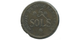 5 sols du siège de Mayence 1793 an 2
