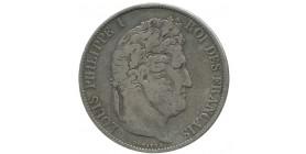 5 Francs Louis Philippe Tête Laurée le I Plus éloigné - Tranche