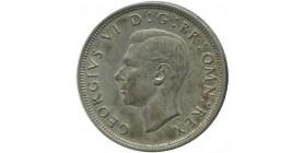 1/2 Couronne Georges VI Grande Bretagne Argent - Grande Bretagne