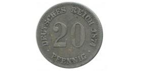 20 Pfennig Allemagne Argent