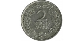 2 Reichsmark S. Hindenbourg Allemagne Argent