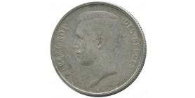 2 Francs Albert Ier Légende Française Belgique Argent