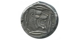 Sicile - Tétradrachme de Léontinoï