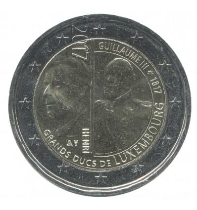2 Euros Commémoratives Luxembourg 2017