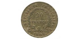 20 Francs Napoléon III Tête Laurée - Revers République