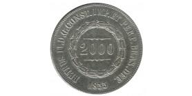 2000 Reis Pierre II Brésil Argent
