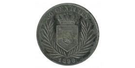50 Centimes Leopold II Congo Belge Argent