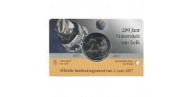 2 Euros Commémoratives Belge 2017 LFr