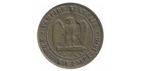 """Médaille Satirique Module de 5 centimes Napoléon III """"Vampire Français"""" 80000 Prisonniers"""