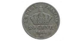 20 Centimes Napoléon III Tête Laurée