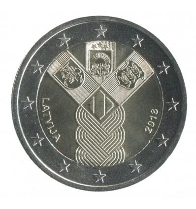 2 Euros Commemoratives Lettonie 2018