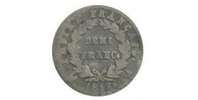 1/2 Franc Napoléon Ier Tête laurée