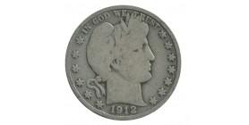 1/2 Dollar Barber Etats-Unis Argent
