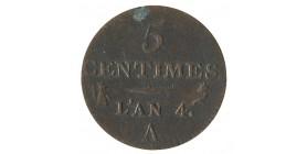 5 Centimes Dupré Petit Module