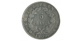 5 Francs Napoléon Ier Tête Laurée Revers Empire