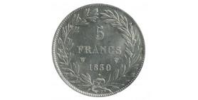 5 Francs Louis Philippe Ier Tête Nue Tranche Creux