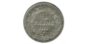 1/4 Franc Leopold I belgique argent