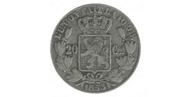 20 Centimes Leopold Ier Belgique Argent
