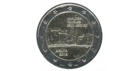 2 Euros Commemoratives Malte 2018 - Temples Mnajdra