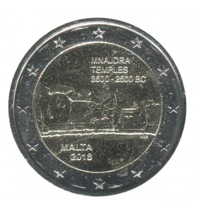 2 Euros Commemoratives Malte 2018 - Temples Mnajdra