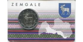 2 Euros commémorative Lettonie 2018 Zemgale BU