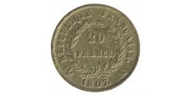 20 Francs Napoléon Ier Tête Laurée - Revers République