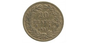 20 Francs Louis-Philippe Ier Tête Nue Tranche en Relief