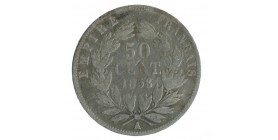 50 Centimes Napoléon III Tête Nue