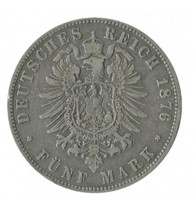 5 Marks Guillaume Ier - Allemagne Prusse