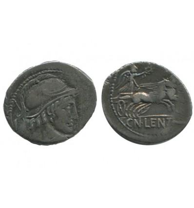 Denier Cn. Cornelus Lentulus République Romaine