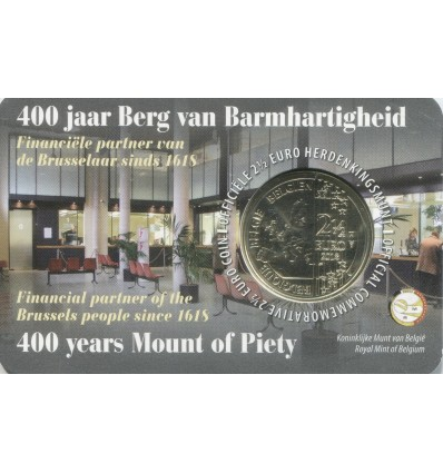 2,5 Euros Commémorative 400 ans Mont-de-Piété - Belgique 2018