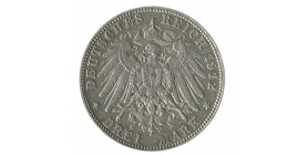 3 Marks Otto - Allemagne Bavière Argent