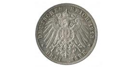 3 Marks 100e Anniversaire de la Bataille de Leipzig - Allemagne Saxe