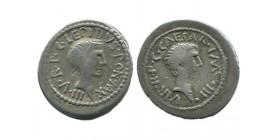 Denier de Lepidus et Octave République Romaine