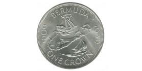 1 Couronne Elisabeth II - Bermudes Argent