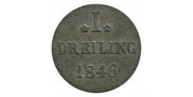 1 Dreiling - Allemagne Hambourg Argent