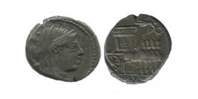 Denier L.rubrius Dossenus République Romaine