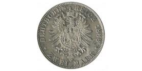 2 Marks Frederic III - Allemagne Prusse Argent